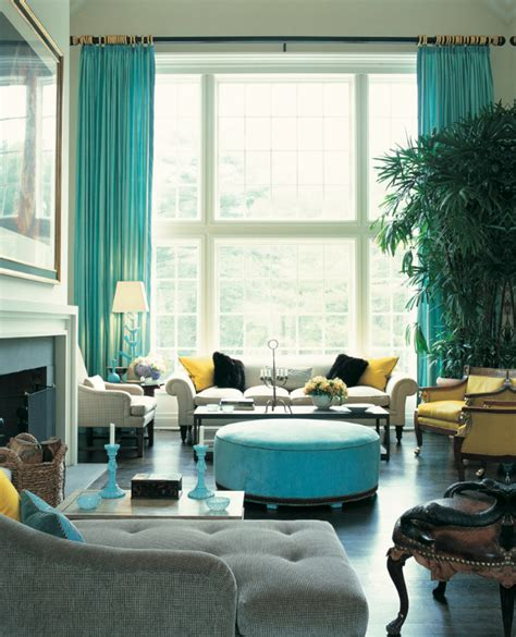 Turquoise Living Room Decor by Guest Ashlina From The Decorista