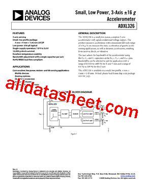 326 transistor datasheet adxl326bcpz データシート pdf analog devices