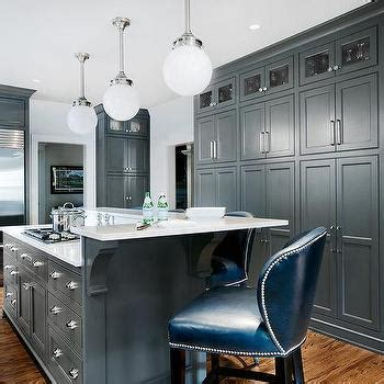 grey kitchen insel gray kitchen island with l shaped raised breakfast