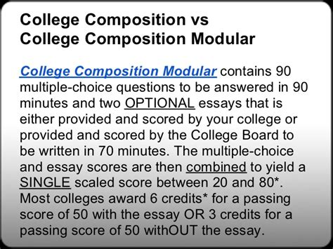 Clep College Composition Essay by Free College Composition Clep Study Guides Free College
