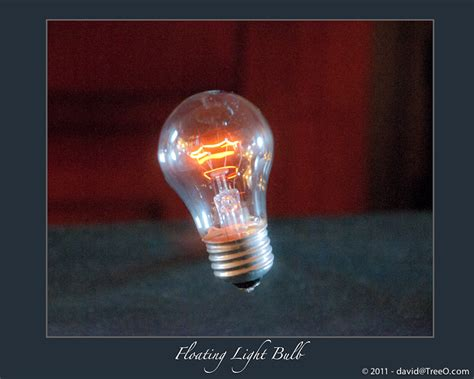 floating light bulb my daily photograph by david e levine fine art