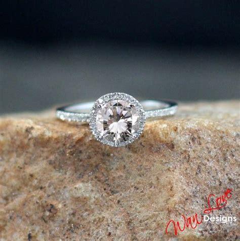 Moissanite 1 65 Ct moissanite halo engagement ring 1ct 6 5mm
