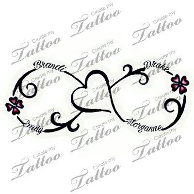 25 best infinity name tattoo ideas on pinterest
