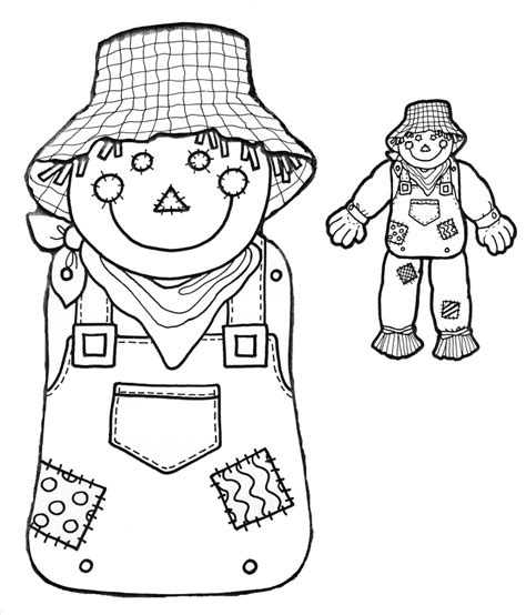 free printable scarecrow template pages artprojects thinkgyminformation gifs wizard of oz