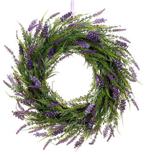 silk plants direct lavender twig wreath pack of 2