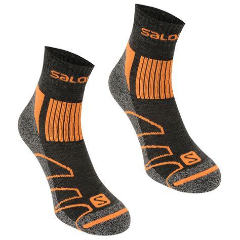 walking socks salomon salomon merino low 2 pack walking socks mens mens walking socks