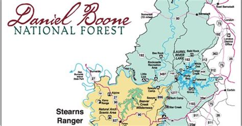 kentucky forest map daniel boone national forest stearns ranger district map