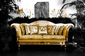 Versace Style Sofa by Versace Home Exhibitor At Salone Mobile