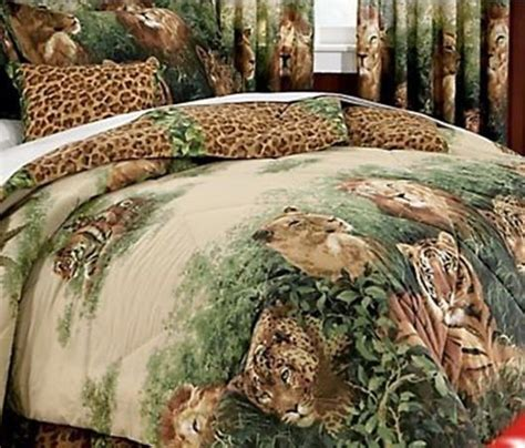 jungle bedding wild cats lion leopard tiger jungle safari king