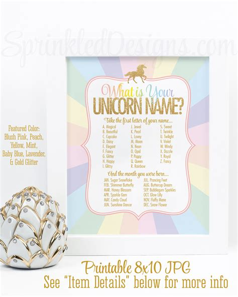 your unicorn name party sign your unicorn name party game your unicorn name party sign your unicorn name party game