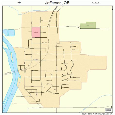 map of jefferson jefferson oregon map 4137250