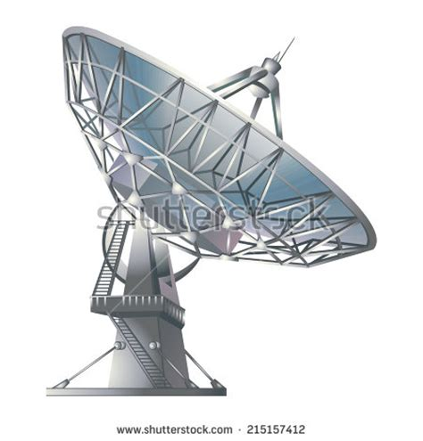 satellite dish dishshaped type parabolic antenna stock photo 191839526