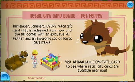 Animal Jam Retail Gift Cards - updates as of 8 6 15 animal jam seekers