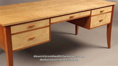 Handmade Designer Furniture - custom writing desk handmade by doucette and wolfe