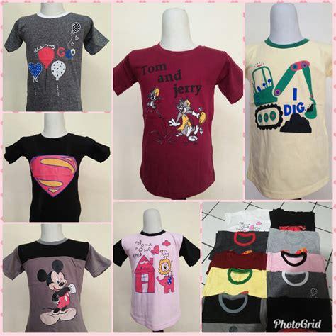 grosir kaos karakter anak murah ribuan bisnis baju