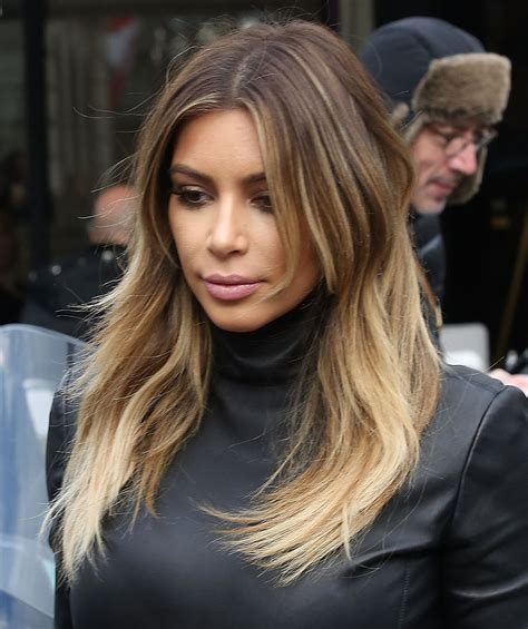 kim kardashian blonde balayage highlights photos red carpet report balayage hsi professional