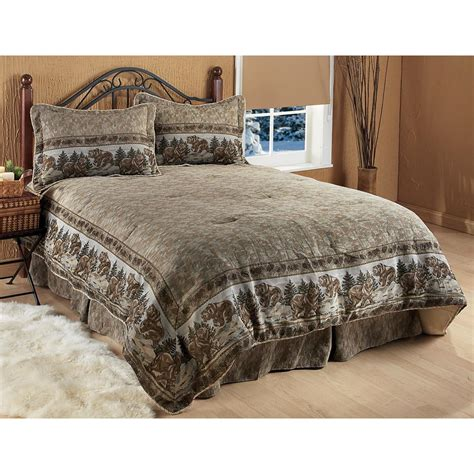kodiak tapestry border comforter set 130380 comforters