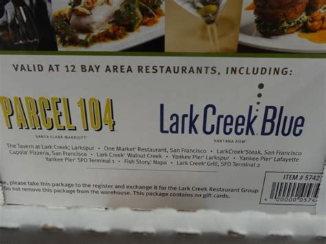 Spa Gift Cards Costco - lark creek restaurants discount gift card