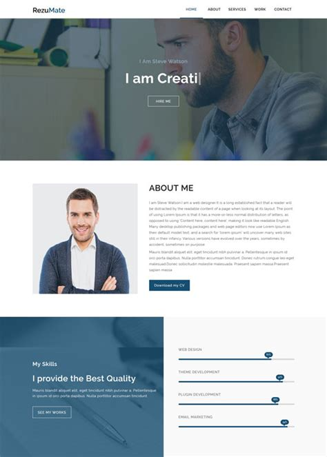 Personal Html Templates by 50 Best Personal Website Templates Free Premium