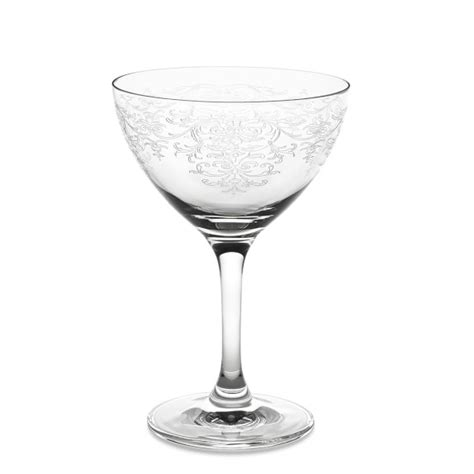 vintage martini glasses minner s vintage lace martini glasses set of 6 williams