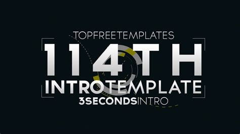 Free Intro Template 3 Second Yt Intro 114 W Tutorial Youtube Top Free Templates