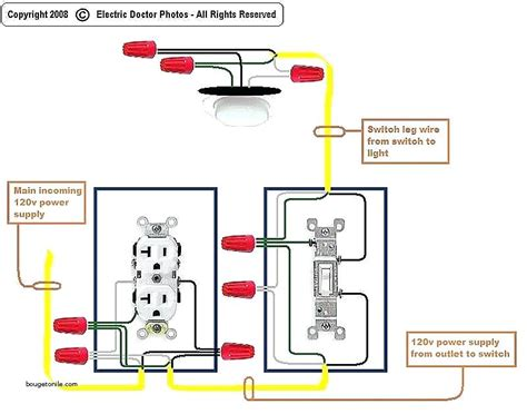light switch wiring diagram with outlet wiring diagram
