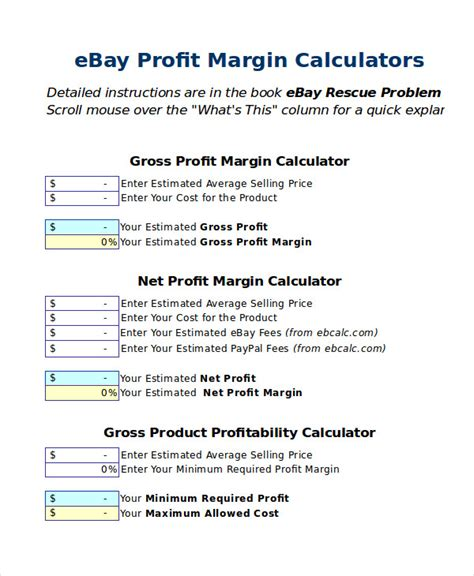 margin calculator excel template excel calculator template 6 free excel documents