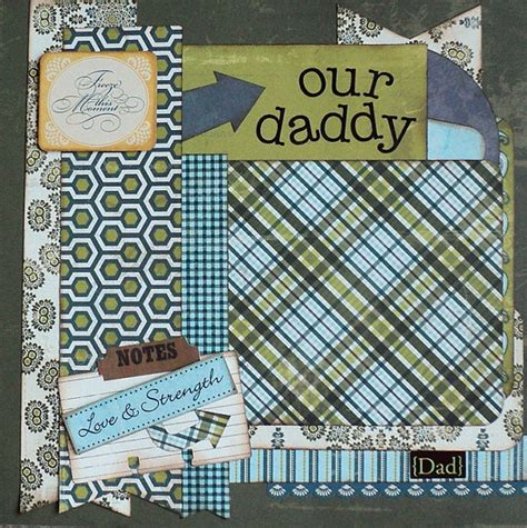 father s day scrapbook layout craft our daddy fathers day scrapbooks premade pages 12x12