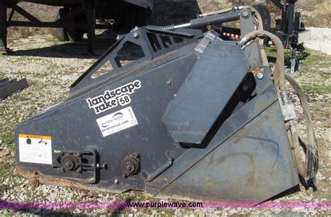 bobcat lr6b landscape rake no reserve auction on tuesday