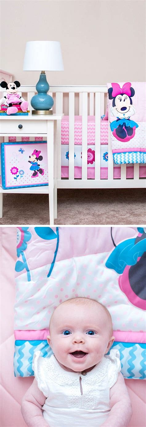 ad smiles all around for this disney baby minnie mouse crib set disneybaby all i
