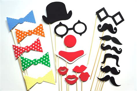 free printable photo booth props circus photo booth props the circus collection 20 piece set