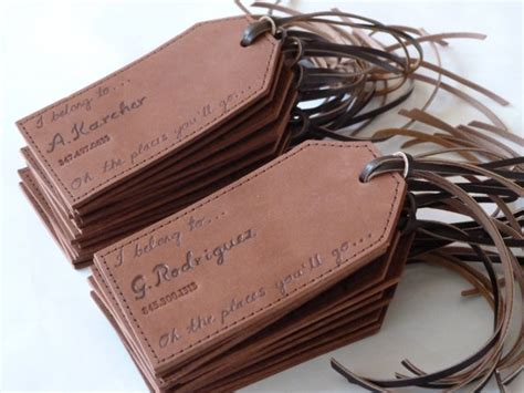 holiday workshop leather gift tags the make den sewing