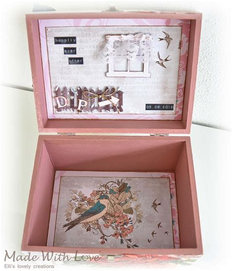 Wedding Box Decoupage shabby chic decoupage wedding wooden jewelry box