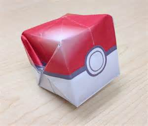 Origami Templates by Waterbomb Pokeball Origami Template By Jimbox31 On