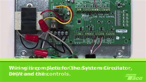 wire  system circulator   taco zone valve