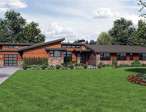 plan w69510am stunning contemporary ranch home plan e