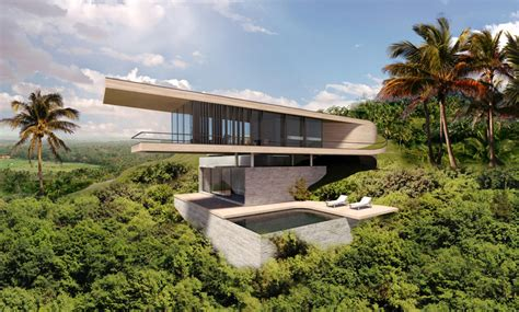hill villa design modern contemporary house in bali architecture