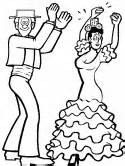 Flamenco Dancers sketch template