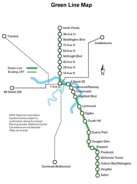 green line map calgary green line lrt m s calgary transit skyrisecities