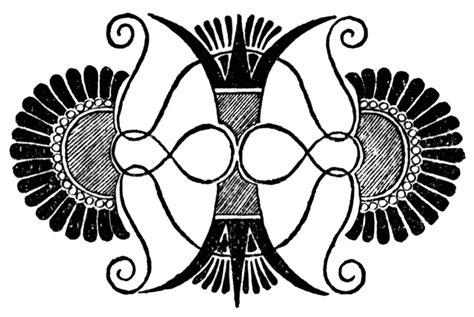 greek motif greek vase palmettes motif clipart etc