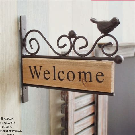 Welcome Home Decor by Free Shipping Vintage Style Iron Bird Design Welcome