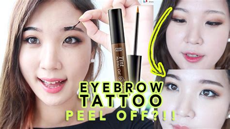 tattoo off reviews etude house tint my brows gel review peel eyebrow