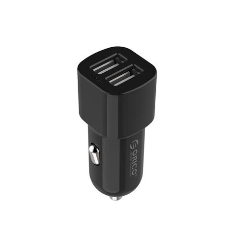 orico dual usb car charger 2 4a for smartphone ucl 2u black gray jakartanotebook