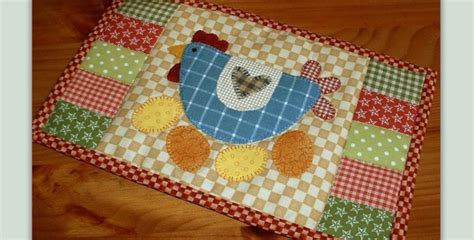 Mug Rugs To Make by Sweet Chicken Mug Rug Is So Easy To Make Quilting Digest
