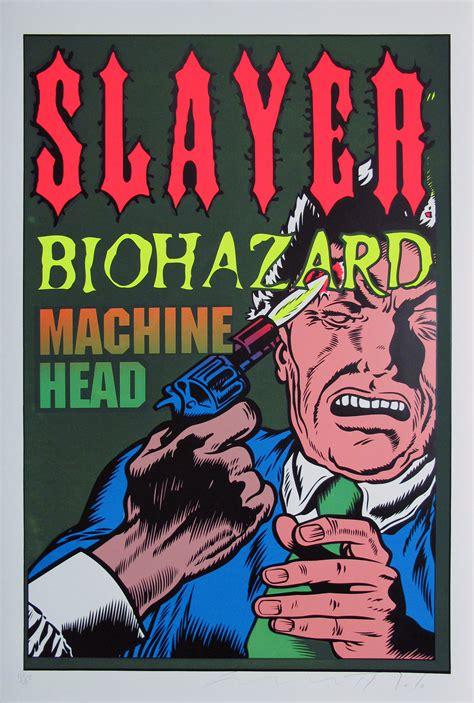 light up posters for concerts gig posters slayer rockandrolljunkie com