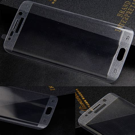 Tempered Glass Samsung S6 Edge Curved Transparan wholesale cover curved tempered glass screen