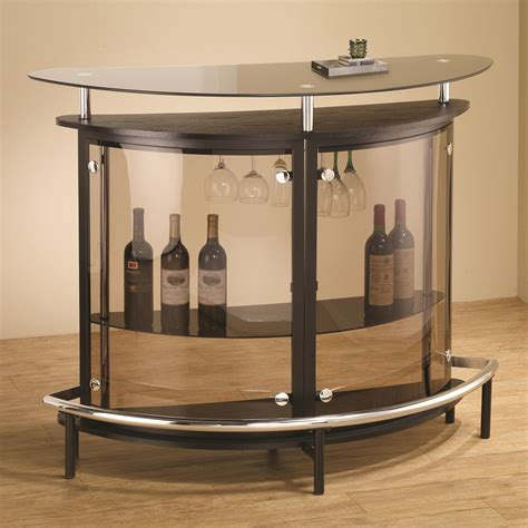 Acrylic Bar Table Coaster Bar Units And Bar Tables 101065 Contemporary Bar Unit With Smoked Acrylic Front
