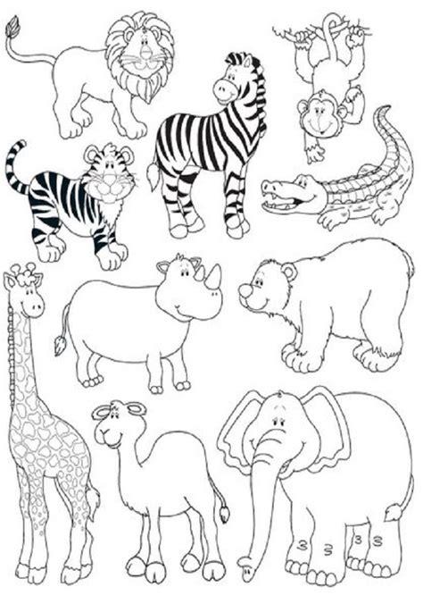 imagenes animales salvajes para colorear animales salvajes dibujos para colorear
