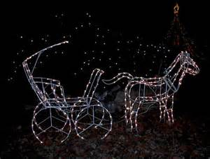 lighted christmas horse and carriage large lighted carriage yard sculpture ebay