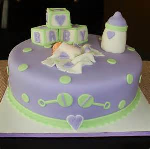 Creative cakes by lynn purple amp green baby shower cake